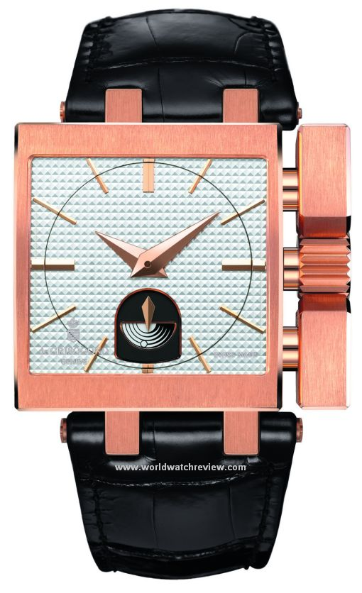 De Grisogono Otturatore Automatic watch in rose gold (front view)
