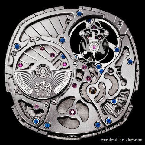 Piaget Calibre 1270P automatic tourbillon movement (front view)