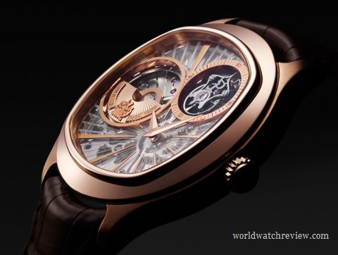 Piaget Emperador Coussin Automatic Tourbillon Ultra-Thin Watch in rose gold (Ref. G0A36041)