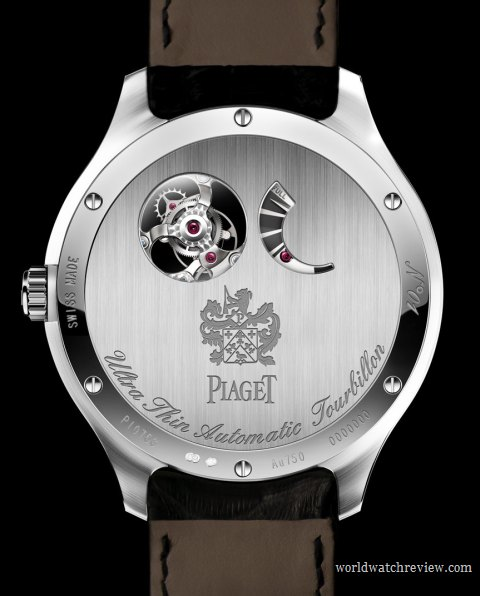Piaget Emperador Coussin Automatic Tourbillon Ultra-Thin Watch in white gold Ref. G0A3604 (solid case back with cut-outs)