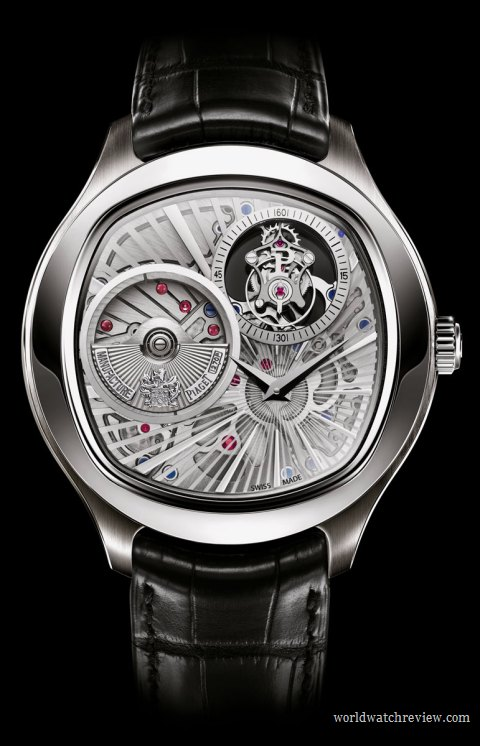 Piaget Emperador Coussin Automatic Tourbillon Ultra-Thin Watch in white gold Ref. G0A3604 (front view)