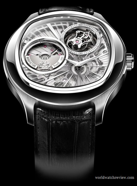 Piaget Emperador Coussin Automatic Tourbillon Ultra-Thin Watch in white gold (Ref. G0A3604)