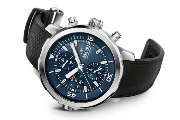 Blue Dial IWC Aquatimer Chronograph Jacques-Yves Cousteau Special Replica Watch