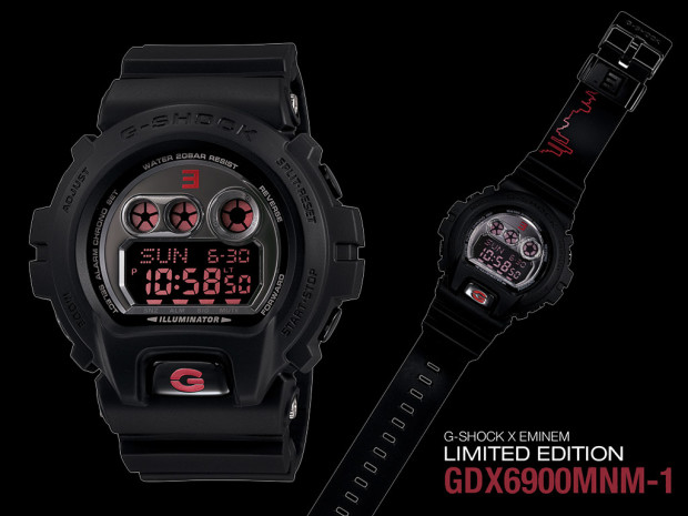 Black Eminem Casio G-Shock Replica Wrist Watches
