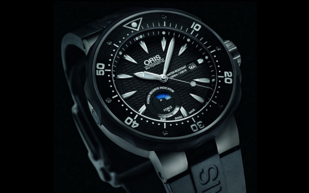 Oris Hirondelle Diver Black Dial Replica Watch