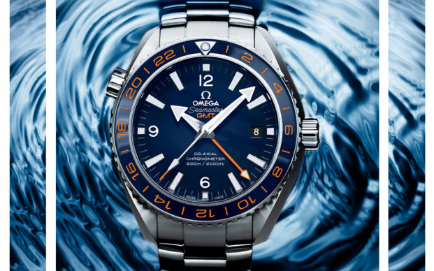 Omega Seamaster Planet Ocean GMT 600M Blue Dial Replica Watch