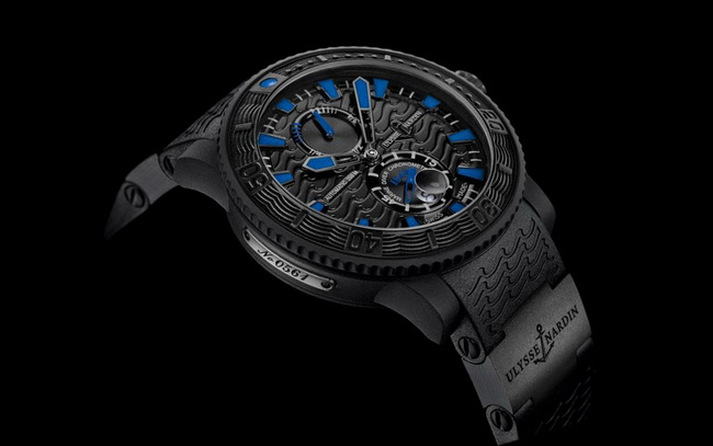 2013 Ulysse Nardin Maxi Marine Diver Black Sea Mens Replica Watch