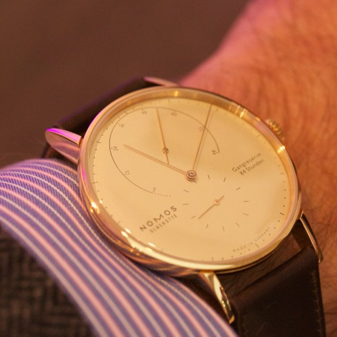 Ultra Thin Rose Gold NOMOS Glashuette Lambda Replica Watch