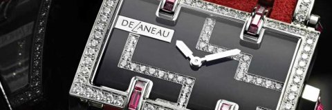The High Quality White Gold DeLaneau Atame Ladies Watch Replica