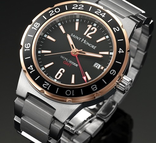 Best Quality Mens Saint Honore Worldcode GMT Quartz Watch Replica