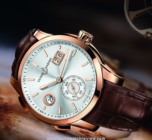 Ulysse Nardin Dual Time Manufacture UN-334 Rose Gold Replica Watch