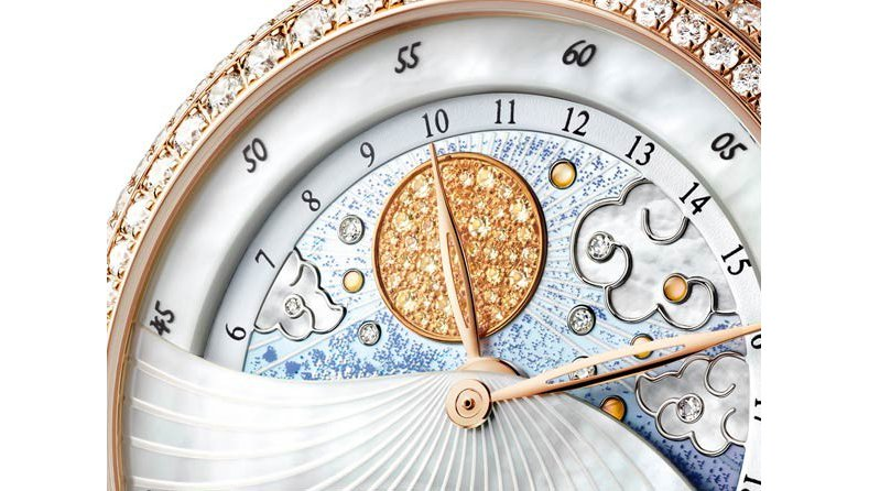 The Feminine Elegance Blancpain Day Night Fake Watch with Diamonds Bezel Ref.3740-3744-58B