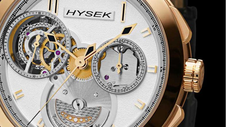 You will Like The Unique Replica Hysek IO Chronograph Automatic Tourbillon Double Micro-rotor Watch