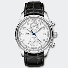 Swiss Made Steel IWC Portuguese Chronograph Classic Replica Watch