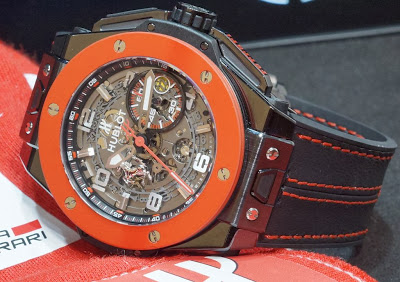 The Awesome Fake Hublot Big Bang Ferrari Hong Kong Ceramic Case Watch For Men