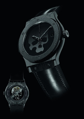 Review The Best Black Ceramic Case Hublot Skull Bang Replica Watch For Sale