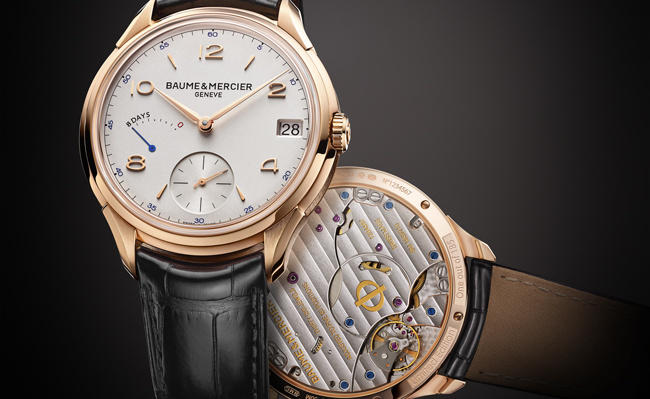 Swiss Rose Gold Baume & Mercier Clifton 8-Day Power Reserve Replica Watch Ref.10195