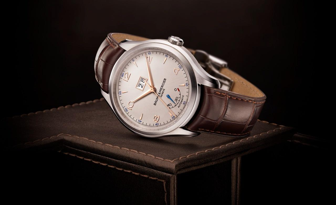 Swiss Elegant Baume & Mercier Replica Clifton Big Date and Power Reserve Watch