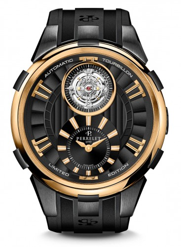 Choose The Cheap Classic Black & Gold Perrelet Tourbillon Replica Watch