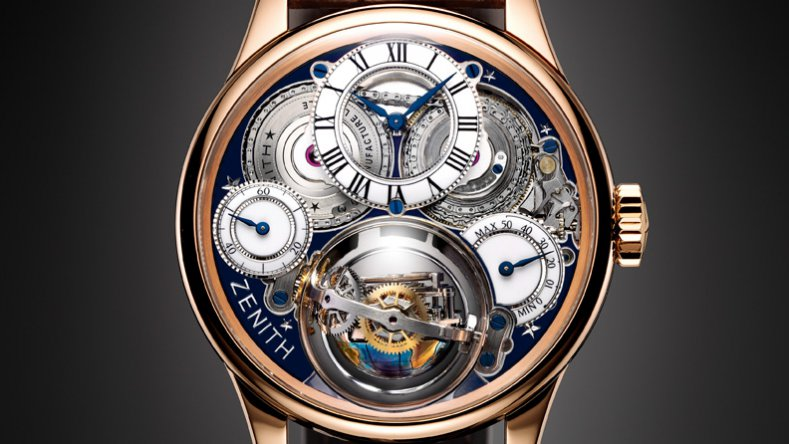 Reviewing The Rose Gold Zenith Academy Christophe Colomb Hurricane Revolución Tourbillon Copy Watch