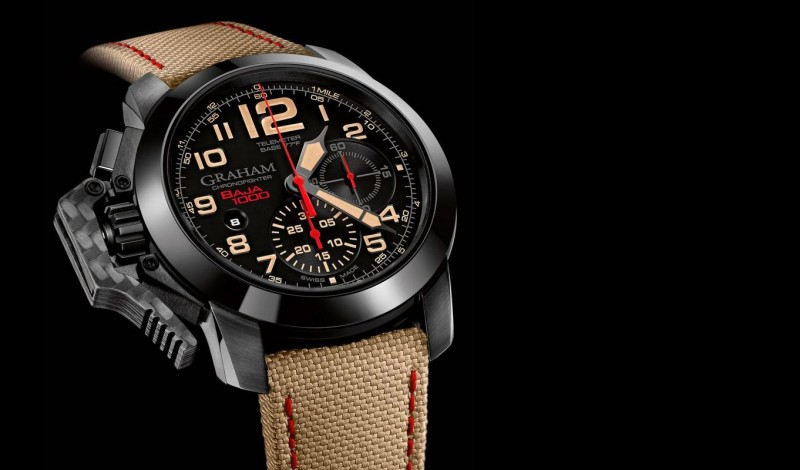 The High-efficiency Graham Chronofighter Oversize Score Baja 1000 Black PVD Case Replica Watch