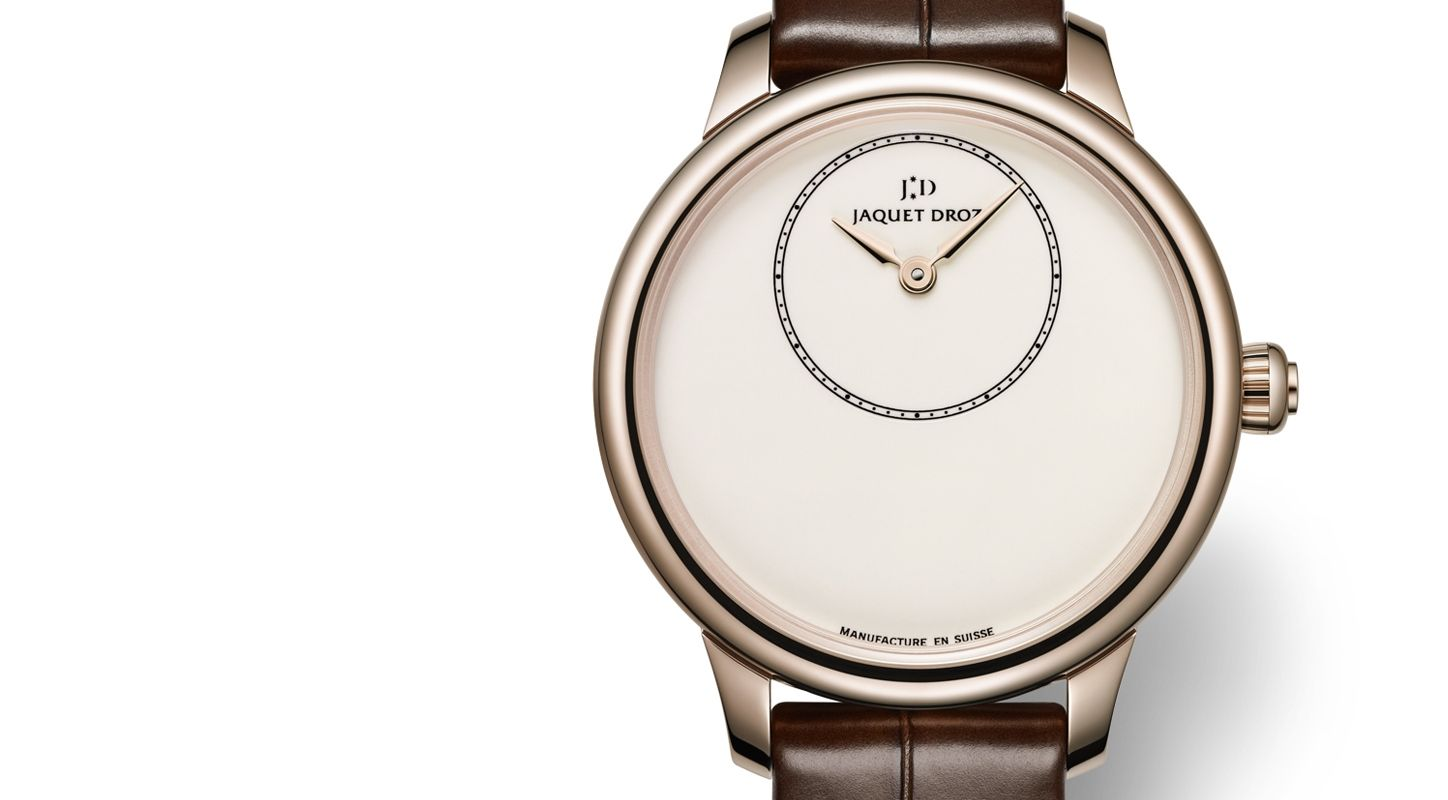 The Ivory Enamel Dial Jaquet Droz Petite Heure Minute Watch Replica (Ref. J005003200)
