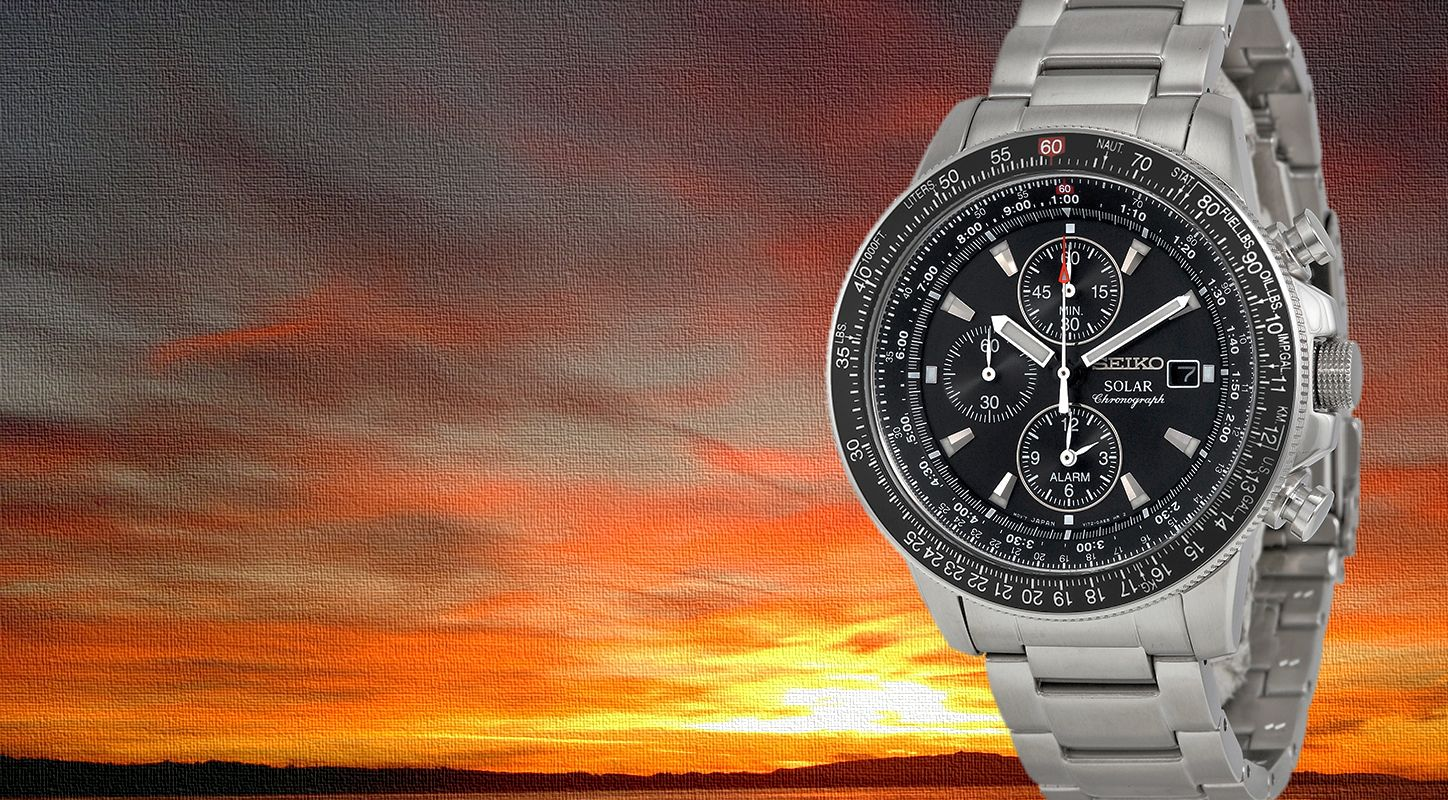 Presenting The Amazing Fake Seiko Solar Pilot Alarm Chronograph Flightmaster Watches For Men