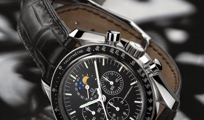 The Awesome Fake Omega Speedmaster Professional Moon Phase Watch For Sale