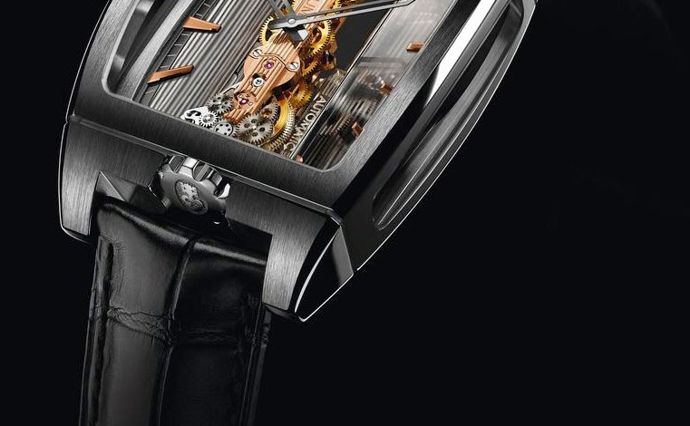 The Awesome Fake Titanium Case Corum Golden Bridge Automatic Watch Replica